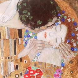 Klimt il bacio mascherina sterilizzabile e riutilizzabile