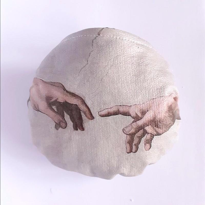 creazione adamo giudizio universale mascherina sterilizzabile riutilizzabile